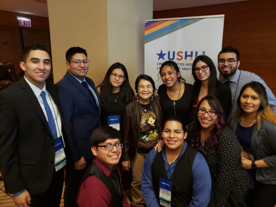 Club officers and members recently attended the United States Hispanic Leadership Institute conference. (Image courtesy of Cesar Perez)