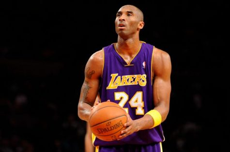 Kobe Bryant taking a free throw for the Lakers (Photo Courtesy of Twitter @NBA)