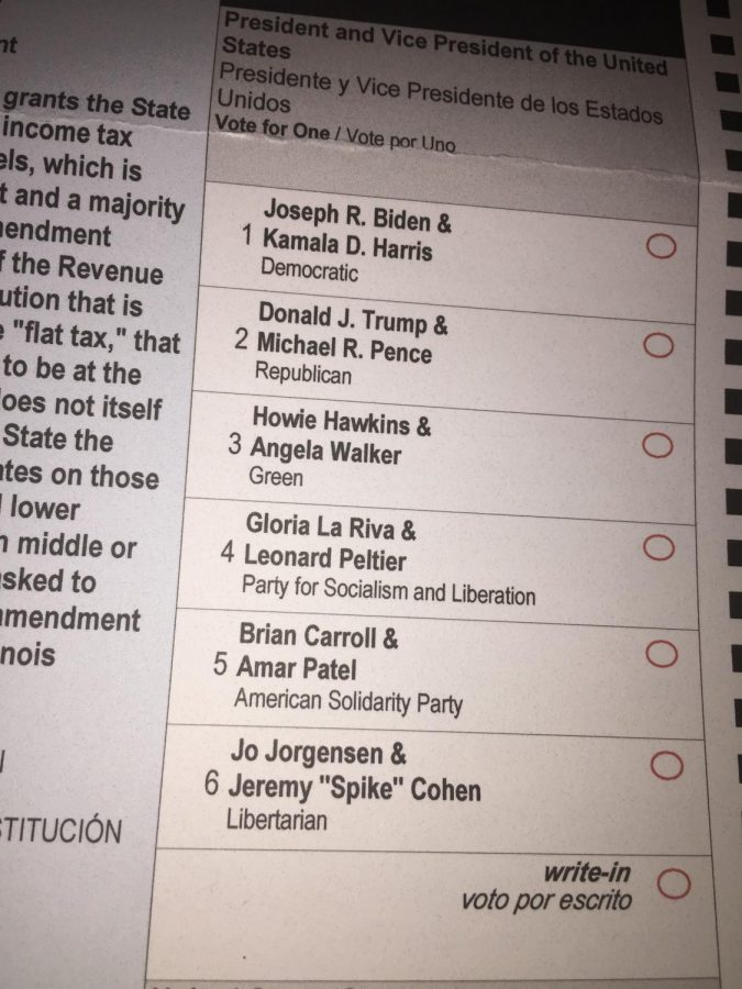 Voters in Illinois have four minor party candidates on their ballots this year, as well as a write-in option. Photo courtesy of Konrad Strzalka.