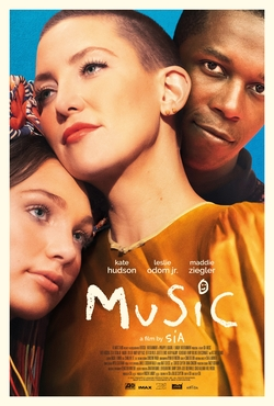 Movie poster for Music, a musical drama film by Sia. Photo courtesy of Wikipedia.