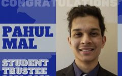 Congratulating post for newly elected Student Trustee Pahul Mal. Photo courtesy of Harper's Student Involvement.