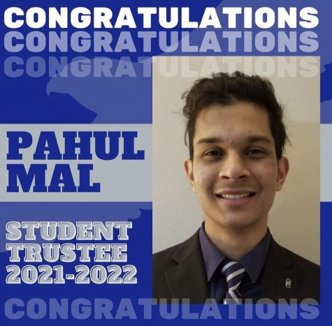 Congratulating post for newly elected Student Trustee Pahul Mal. Photo courtesy of Harper