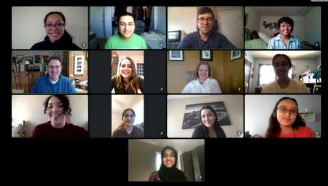 The Harper College Speech Team meets weekly on online platform Discord to adapt to their fully remote season. Photo courtesy of Jeff Przybylo.