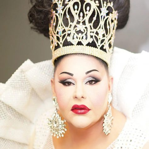 Britney Taylor poses for a picture on October 4, 2021 after receiving the title of Miss Continental Plus. She is wearing the crown she won. (photo courtesy of Taylor)